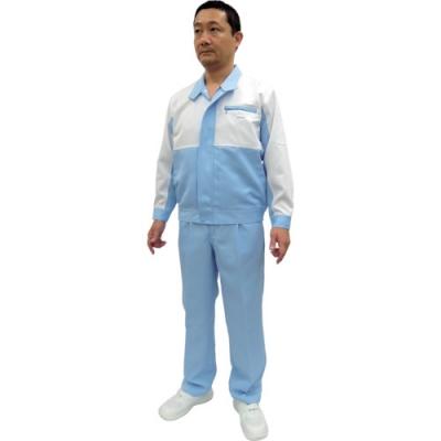 嘉德納 GUARDNER EG372014L 工作服装白×蓝色 4L